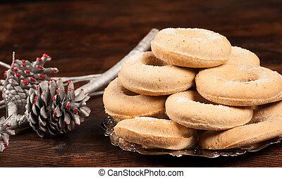 español, navidad, rosquillas de pan
