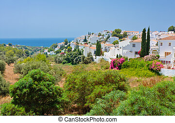 español, paisaje, nerja, costa del sol, españa