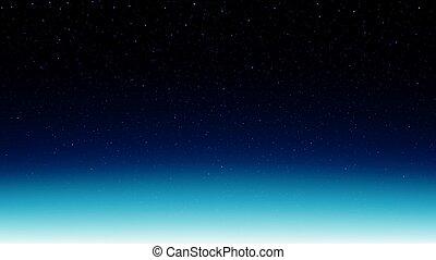 espace, étoilé, arrière-plan bleu, briller, cosmos, ciel, étoiles, nuit