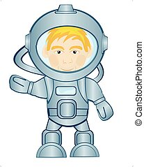 espace, astronaute, complet