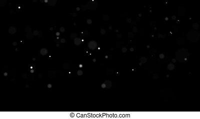 espace, blanc, lent, 1920x1080, petit, balles, hd, mouvement, fond, noir