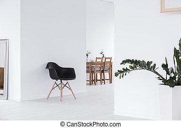 espace blanc, maison, minimaliste