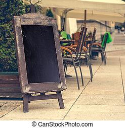 espace, café, signe, texte