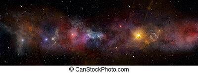espace, champ, profond, étoile