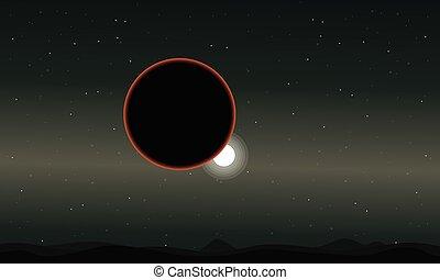 espace, ciel étoilé, planète, nuit, paysage