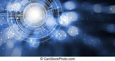 espace, conception, fond, numérique, copie, technologie