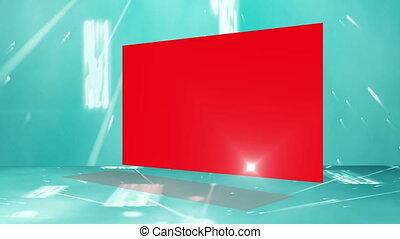 espace copy, montage, écrans, rouges