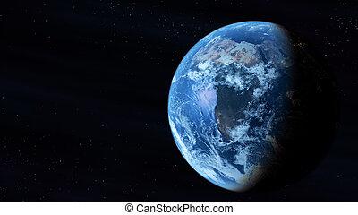 espace, extérieur, terre planète