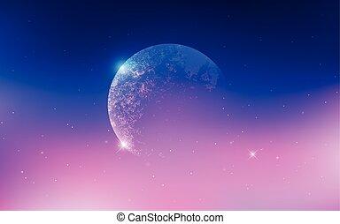 espace extérieur, univers, galaxies, scène, étoiles, ...