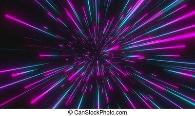 espace, fait boucle, animation., vitesse, interstellaire, ...