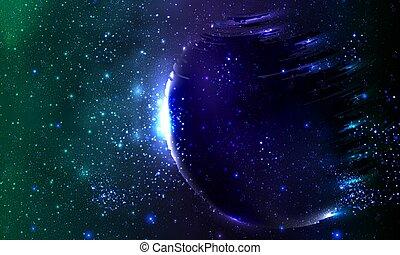 espace, fantôme, planète