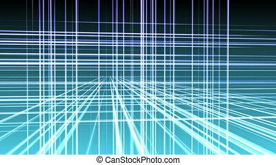 espace, géométrie, ligne, 3d, 4k