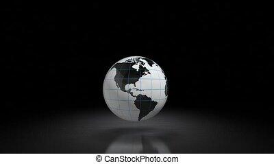 espace, globe, 116, backlit., training., astromomie
