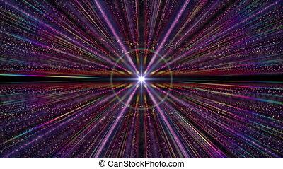 espace, horizon, lumière, particule