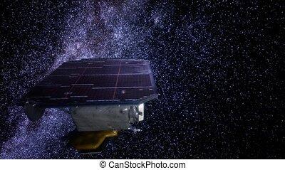 espace, impact, sonde, profond, mission