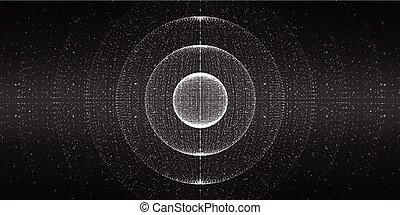 espace, interstellaire, vecteur, arrière-plan.