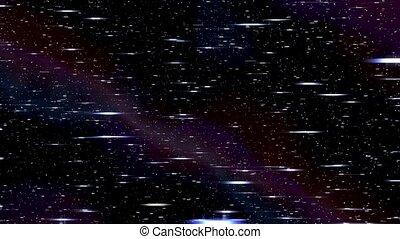 espace, l-r, nébuleuse, hyperspace, starfield, par, chaîne, ...
