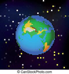 espace, la terre