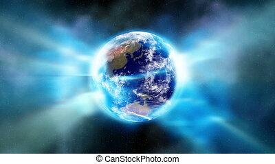 espace, lumière, la terre, aura, enveloppes