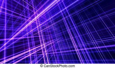 espace, lumière, néon, 3d, ligne