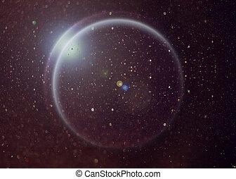 espace, nébuleuse, profond, planète, fantasme, étoiles