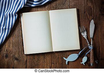 espace, nourriture, bois, monture, endroit, mer, table, copie