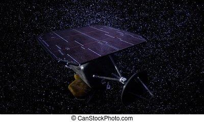 espace, profond, mission, sonde, impact