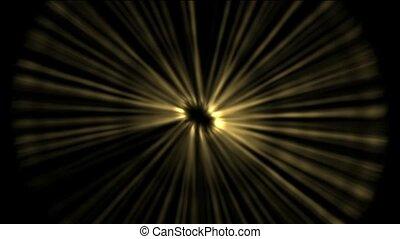 espace, rayon, doré, lumière