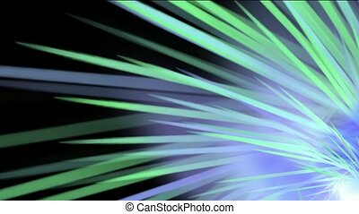 espace, rayon, rotation, lumière