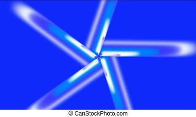 espace, rayons, rotation, lumière