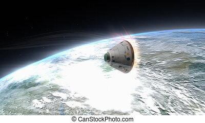 """espace, rendre, descendre, earth."""", capsule, """"artist"""
