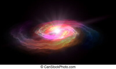 espace, rouges, galaxie