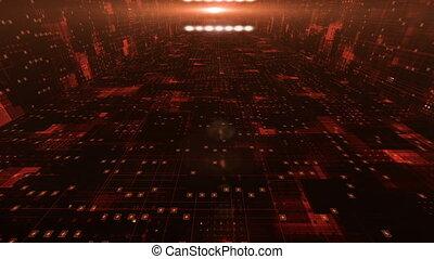 espace, seamless, sci-fi, fait boucle, corridor., futuriste