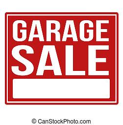 espace, signe vente, garage, copie, rouges