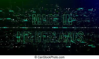 espace, texte, animation, netherlands', numérique, 'made
