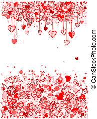 espace, texte, cadre, valentin, conception, ton
