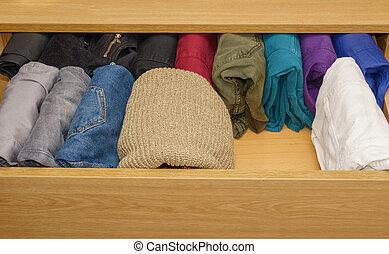 espace, trouser, ouvert, gratuite, tiroir, laine, chandails