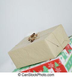 espace, up.christmas, boxes., fin, cadeau, copie, photo