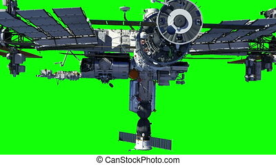espace vert, international, station., écran