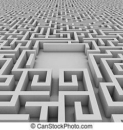espace vide, dans, les, interminable, labyrinthe