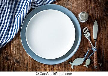 espacio, alimento, de madera, ajuste, lugar, mar, tabla,...