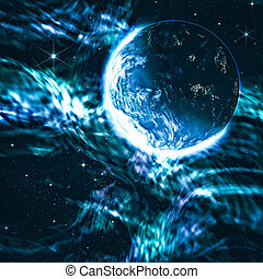 espacio, Ciencia, Extracto, fondos, diseño, su