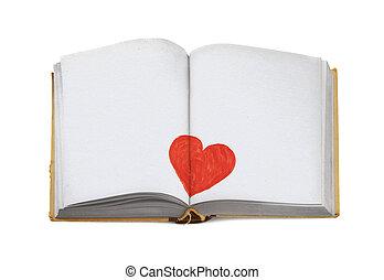 espacio de copia, para, amor, mensaje