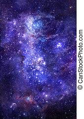 espacio exterior, nebulosa, gas, profundo, nube