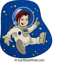 espacio, niño, #3