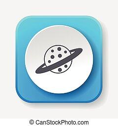 espacio, planeta, icono