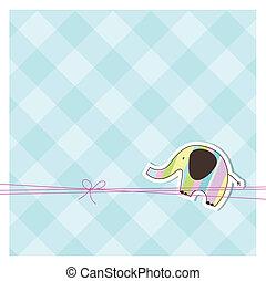 espacio, tarjeta de felicitación, copia