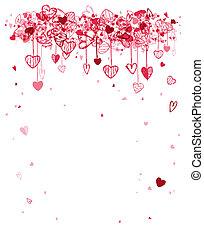 espacio, texto, marco, valentine, diseño, su