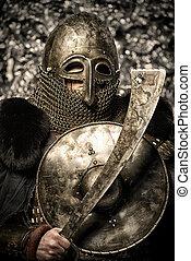 espada, e, escudo