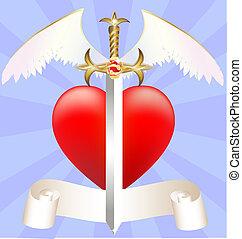 Corazón Espada Alas